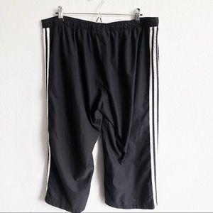adidas Pants - Adidas | 3-Stripe Black Cropped Sweatpants XL